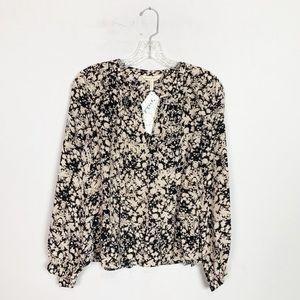 Rebecca Taylor   floral print silk blouse size 6